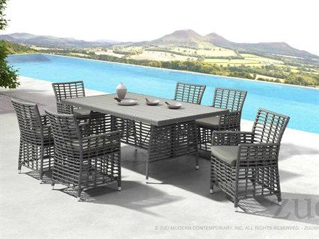 Zuo Outdoor Sandbanks Aluminum Polyethylene Dining Set