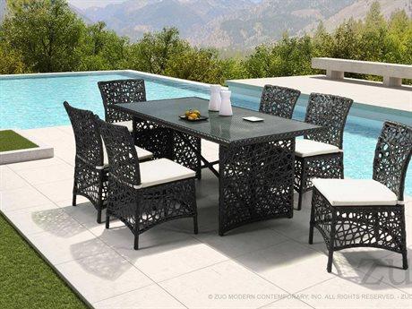 Zuo Outdoor Santa Cruz Aluminum Wicker Dining Set