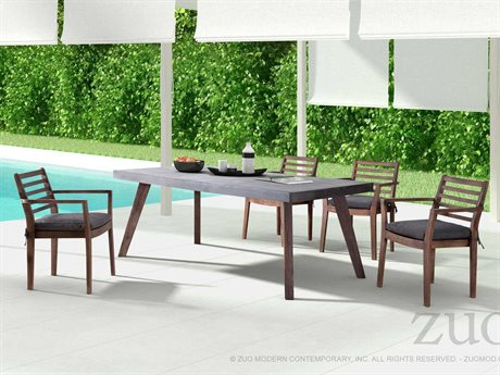 Zuo Outdoor Sancerre Acacia Wood Dining Set
