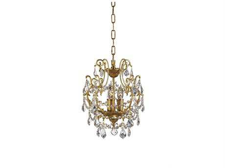 Zeev Lighting Aderet Antique Brass Three-Light 10.5'' Wide Mini-Chandelier