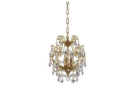 Zeev Lighting Aderet French Gold Three-Light 10.5'' Wide Mini-Chandelier