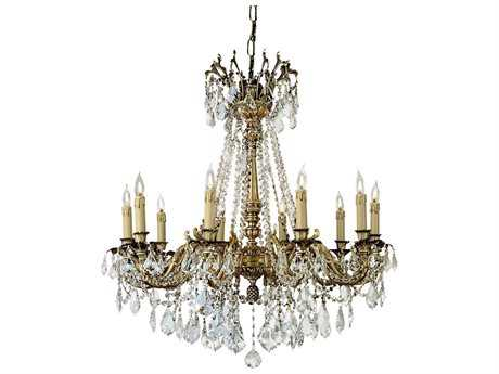 Zeev Lighting Leo Antique Brass Ten-Light 32'' Wide Chandelier