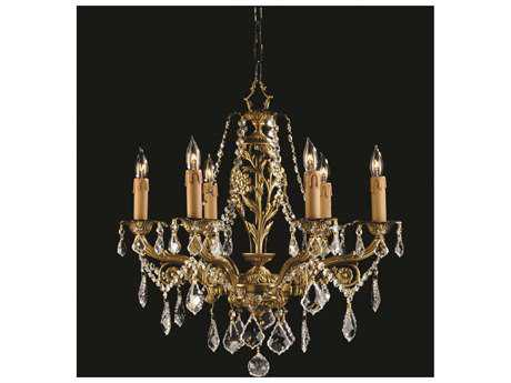 Zeev Lighting Botricello Antique Brass Six-Light 21'' Wide Chandelier