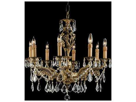Zeev Lighting Botricello Antique Brass Eight-Light 23'' Wide Chandelier