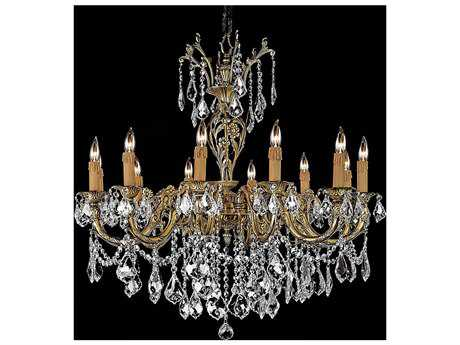Zeev Lighting Botricello Antique Brass 12-Light 31.5'' Wide Chandelier