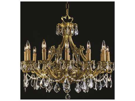 Zeev Lighting Korinthos Antique Brass 12-Light 28'' Wide Grand Chandelier