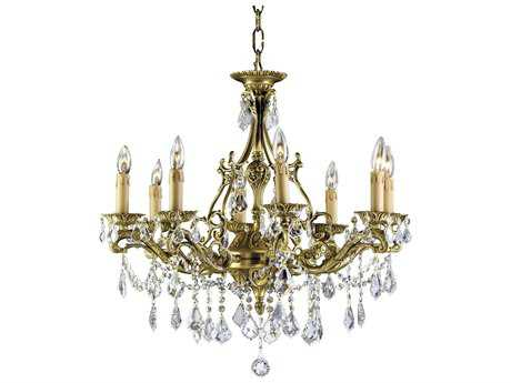 Zeev Lighting Korinthos Antique Brass Eight-Light 26.5'' Wide Chandelier