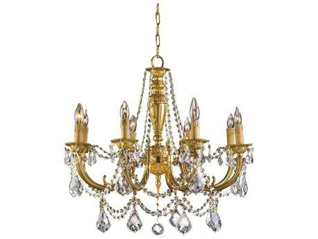 Zeev Lighting Augusta Antique Brass Eight-Light 18'' Wide Chandelier