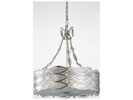 Zeev Lighting Maxine Silver Leaf Four-Light Pendant