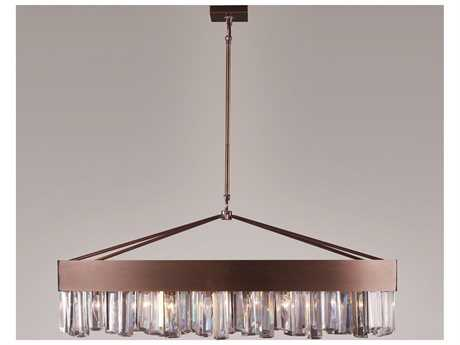 Zeev Lighting Cuspis Antique Brushed Copper Eight-Light Island Light