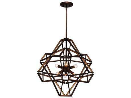 Zeev Light Unity Chestnut Bronze Six-Light 22.5'' Wide Pendant Light