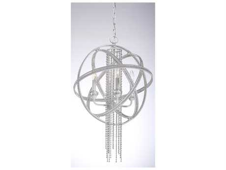 Zeev Lighting Cascade Satin White Four-Light Chandelier