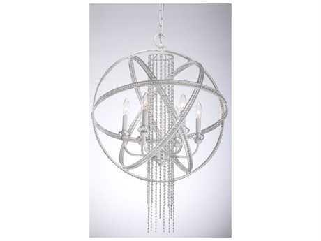 Zeev Lighting Cascade Satin White Six-Light Pendant