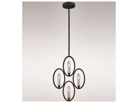 Zeev Lighting Aura Painted Bronze Four-Light Pendant