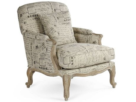 Zentique Limed Grey Oak Accent Chair ZENCFH124E27241