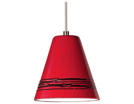 A19 Lighting Studio Strands Matador Red Mini-Pendant Light with Mono-Point Canopy A1LVMP15