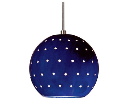 A19 Lighting Studio Lunar Cobalt Blue Mini-Pendant Light with Mono-Point Canopy A1LVMP17