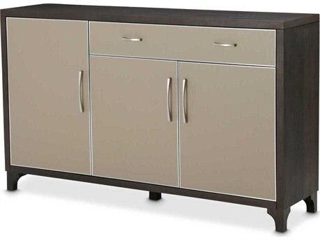 Aico Furniture Michael Amini 21 Cosmopolitan Pebble Grain Taupe / Umber Sideboard AIC9029007212