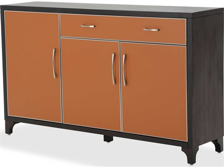Aico Furniture Michael Amini 21 Cosmopolitan Diablo Orange / Umber Sideboard AIC9029007812