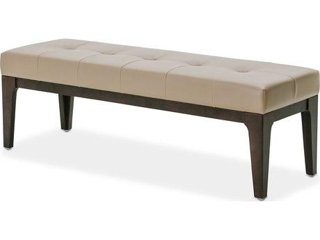 Aico Furniture Michael Amini 21 Cosmopolitan Pebble Grain Taupe / Umber Accent Bench AIC9029904212