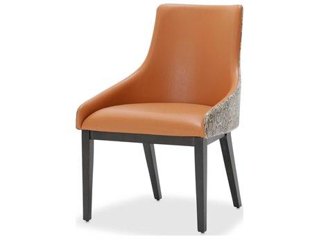 Aico Furniture Michael Amini 21 Cosmopolitan Diablo Orange / Umber Dining Side Chair AIC9029003A812