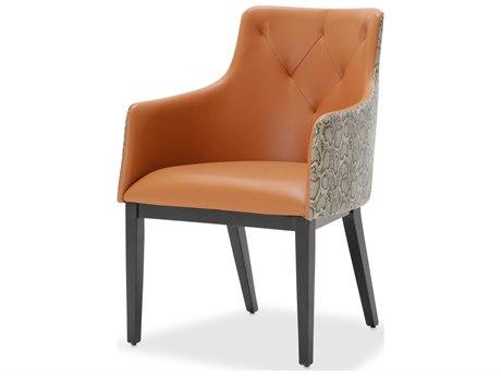 Aico Furniture Michael Amini 21 Cosmopolitan Diablo Orange / Umber Dining Arm Chair AIC9029004A812