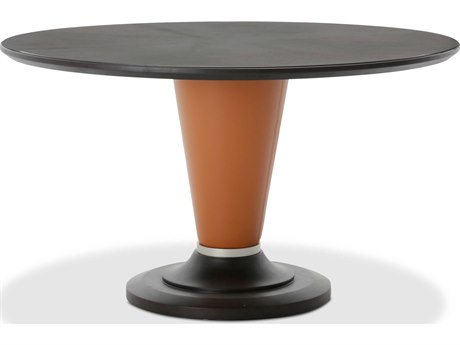 Aico Furniture Michael Amini 21 Cosmopolitan Diablo Orange / Umber 54'' Wide Round Dining Table AIC9029001812