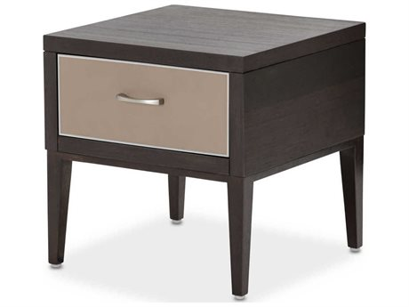 Aico Furniture Michael Amini 21 Cosmopolitan Pebble Grain Taupe / Umber 20'' Wide Square End Table