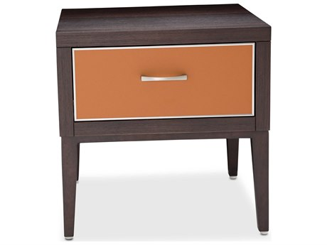Aico Furniture Michael Amini 21 Cosmopolitan Umber / Diablo Orange 20'' Wide Square End Table