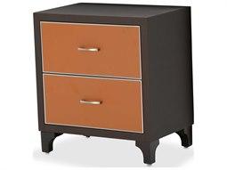 Aico Furniture Michael Amini 21 Cosmopolitan Umber / Diablo Orange 24''W x 18''D Rectangular Two-Drawers Nightstand