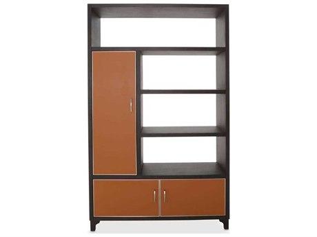 Aico Furniture Michael Amini 21 Cosmopolitan Diablo Orange / Umber Left Bookcase AIC9029098L812