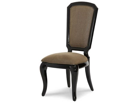 Aico Furniture Michael Amini After Eight Black Onyx Dining Side Chair AIC1900388