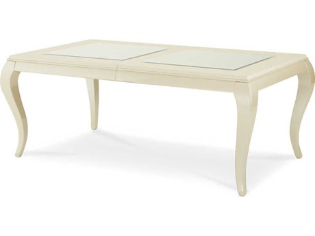 Aico Furniture Michael Amini After Eight Pearl Crockdile / Creamy Pearl 80-128''W x 45''D Rectangular Dining Table AIC1900012