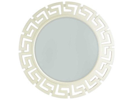 Aico Furniture Michael Amini After Eight Pearl 47'' Wide Round Wall Mirror AIC1926008