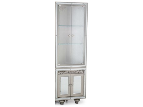 Aico Furniture Michael Amini Bel Air Park Champagne Wedge Curio Cabinet AIC9002405201