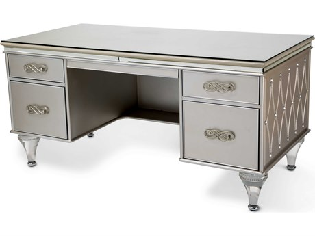 Aico Furniture Michael Amini Bel Air Park Champagne 64''W x 32''D Rectangular Executive Desk AIC9002207201