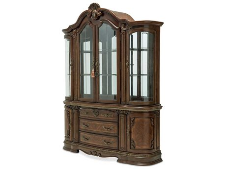 Aico Furniture Michael Amini Bella Veneto Cognac China Cabinet AIC905100506202