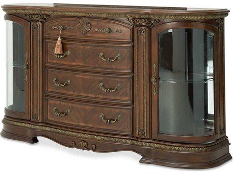Aico Furniture Michael Amini Bella Veneto Cameo Marble / Cognac Sideboard AIC9051007202