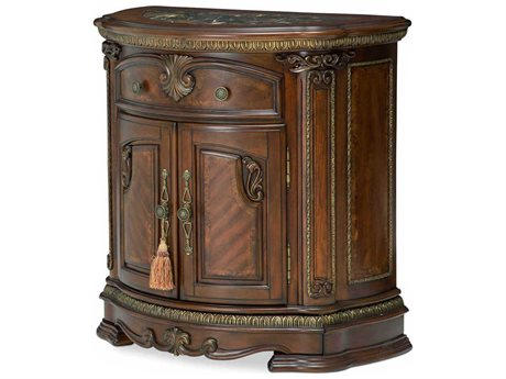 AICO Furniture Bella Veneto Cameo Marble / Cognac 1 Drawer Nightstand AIC9051040202