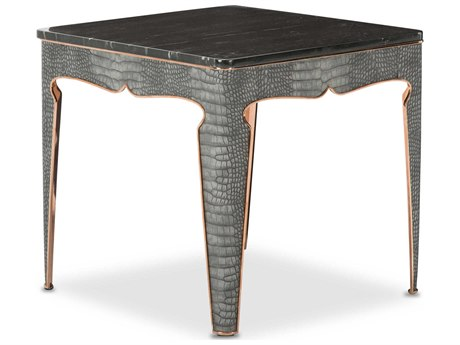 Aico Furniture Michael Amini Carson Marble / Rose Gold 23'' Wide Square End Table