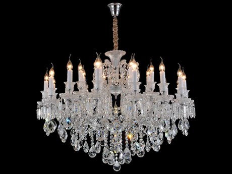 Aico Furniture Michael Amini Chambord Silver / Clear 25-Light 44'' Wide Chandelier AICLTCH90425CLR