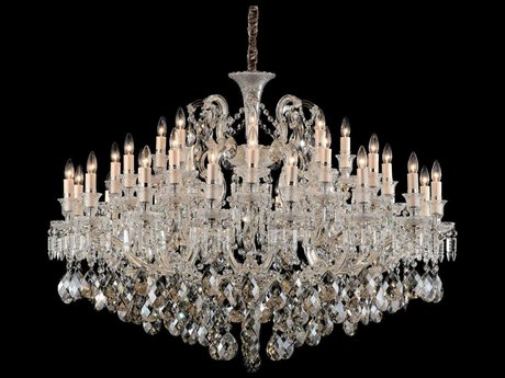Aico Furniture Michael Amini Chambord Gold 37-Light 47'' Wide Chandelier AICLTCH91737GLD