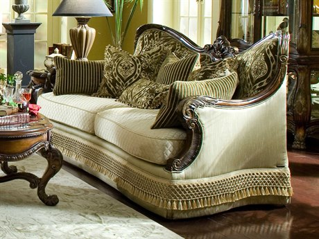 Aico Furniture Michael Amini Chateau Beauvais Noble Bark Sofa AIC75815ANGLD39