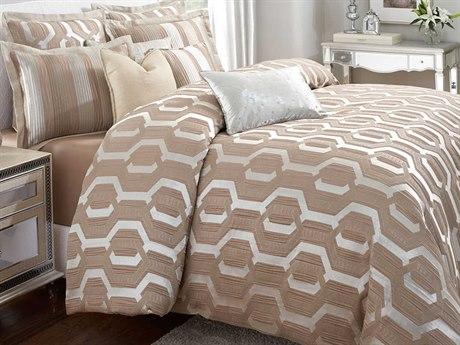 AICO Furniture Como Comforters AICBCSQS09COMOTAUP