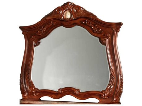 Aico Furniture Michael Amini Cortina Honey Walnut 53''W x 48''H Dresser Mirror