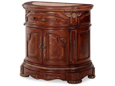 Aico Furniture Michael Amini Cortina Honey Walnut Nightstand