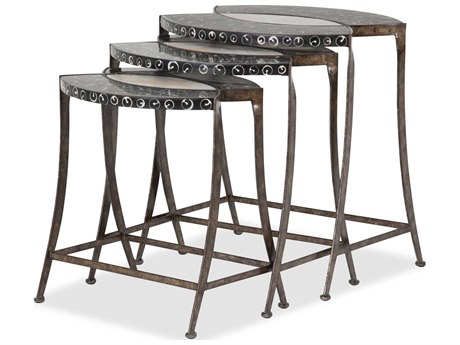 Aico Furniture Michael Amini Discoveries Accents Troca / Cabibe Shell 24''W x 21''D Nesting Table AICACFNST100