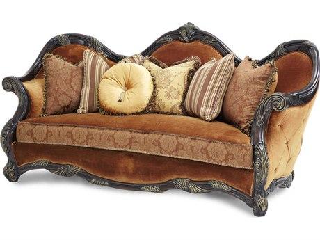 Aico Furniture Michael Amini Essexmanor Deep Brown Sofa AIC76815DPBRN57