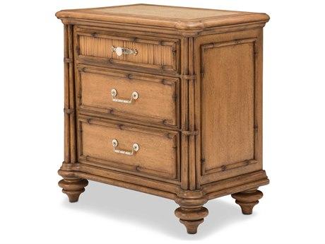 Aico Furniture Michael Amini Excursions Warm Carmel Cashmere Three-Drawer Nightstand