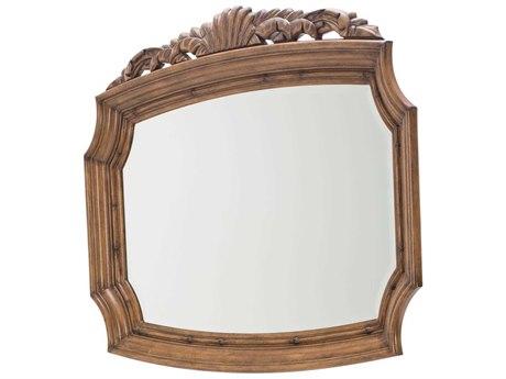 Aico Furniture Michael Amini Excursions Warm Carmel Cashmere 56''W x 46''H Rectangular Wall Mirror